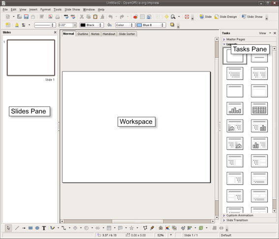 Differences in Use between Impress and PowerPoint - Apache