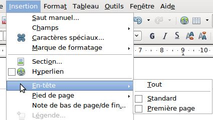 Création D En Têtes Et De Pieds De Page Apache Openoffice Wiki