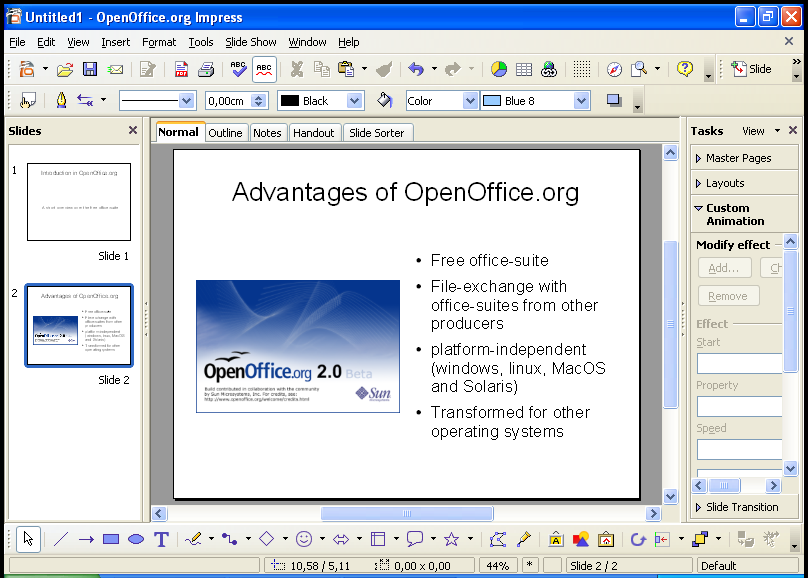 Openoffice impress (03): inserting images youtube.