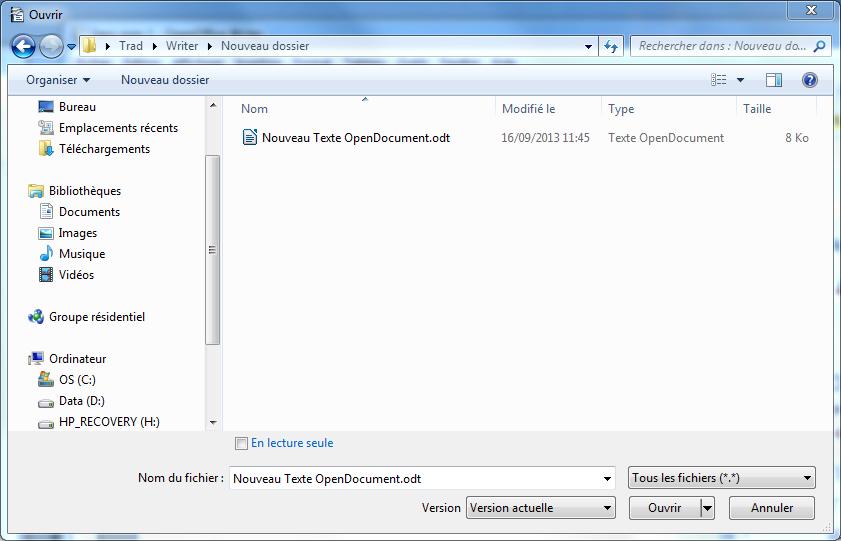 Comment ouvrir writer la r ponse est sur - Convertir un fichier pdf en open office writer ...