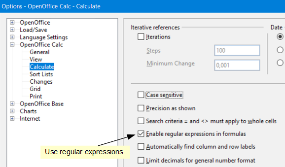 Documentation/How Tos/Regular Expressions in Calc - Apache