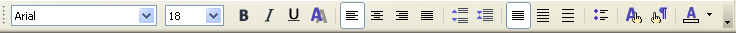 Text Formatting toolbar