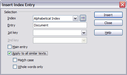 Alphabetic indexes - Apache OpenOffice Wiki