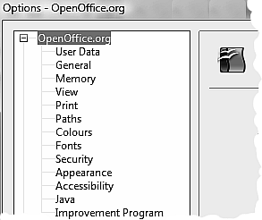 OpenOffice.org Options