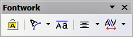 Fontwork toolbar