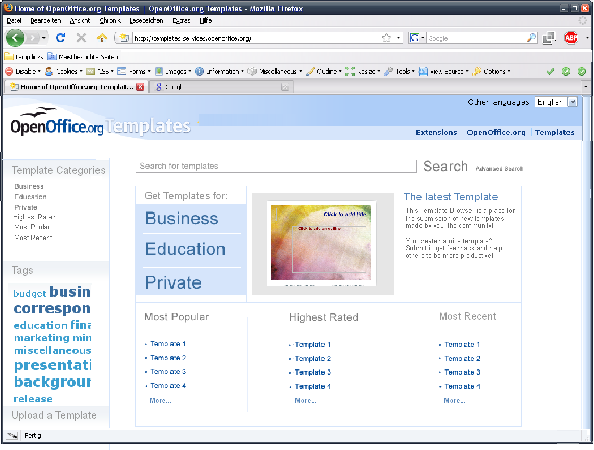 Templates Online Features Apache Openoffice Wiki