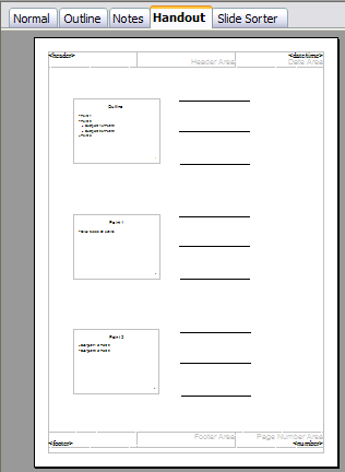 Customized 3-slide handout