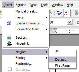 Creating headers and footers - Apache OpenOffice Wiki