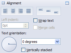 Task pane spread alignment cell selected properties.png