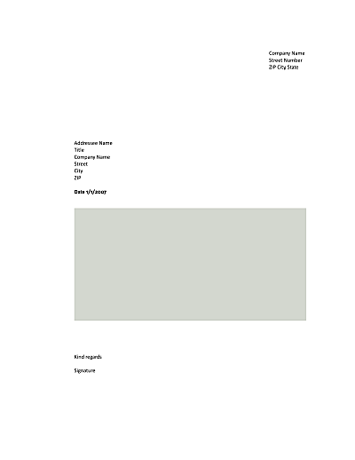 business letter template open office