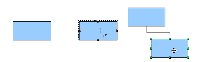 Figure 11: Connector attached to the middle of an object