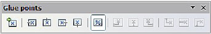 Figure 13: The Glue points toolbar