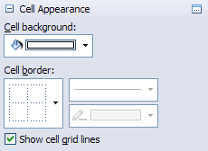 Task pane spread appearance cell selected properties.png