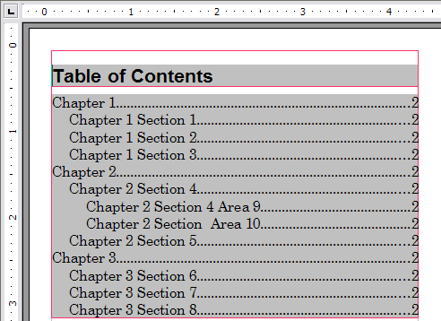Tables of contents apache openoffice wiki creating a table of contents quickly pronofoot35fo Choice Image