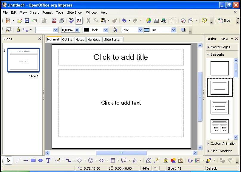 How to create presentations easily in OpenOffice org 2