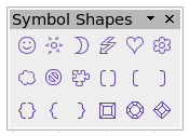 Symbol shapes toolbar