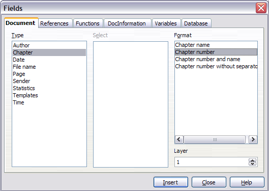 On openoffice writer can you make each header say something different?
