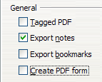 Exporting Notes to PDF