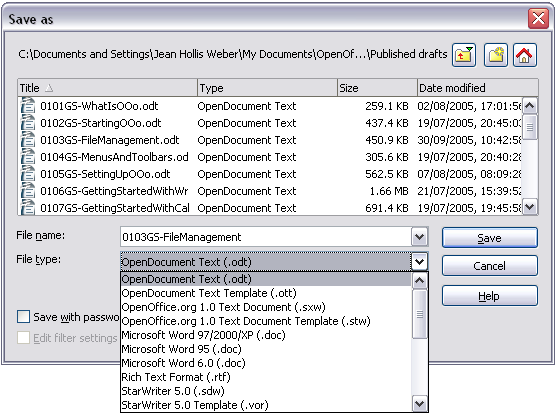 Using the open and save as dialogs apache openoffice wiki - Can open office open docx ...