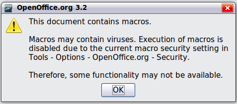 Using a macro as a function - Apache OpenOffice Wiki