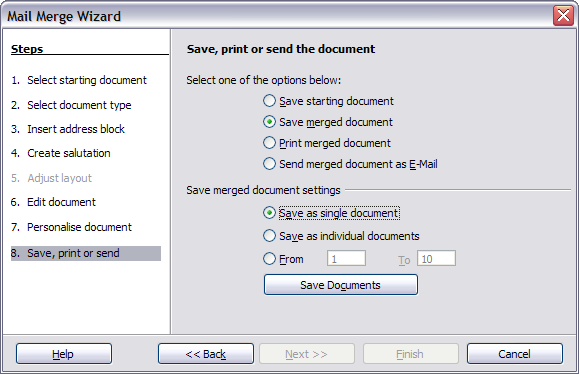 Using the mail merge wizard to create a form letter apache step 8 save print or send spiritdancerdesigns Images