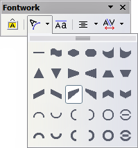 Extended Shapes toolbar