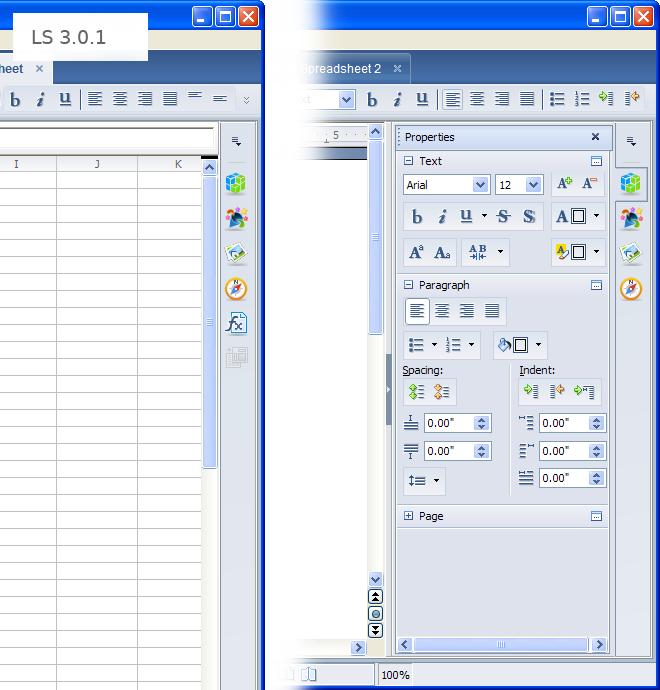 Nueva barra de herramientas y panel lateral en Apache OpenOffice 4.0
