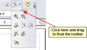 An arrow next to a icon indicates additional functions