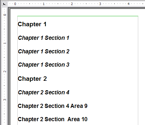 Tables Of Contents Apache Openoffice Wiki