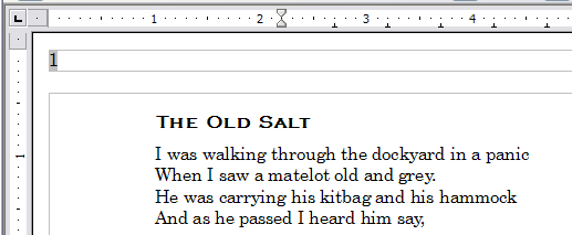 Page number in header