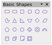 Basic shapes toolbar