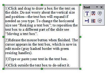 Travail avec les zones de texte apache openoffice wiki - Powerpoint avec open office ...