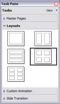 Layouts for handouts