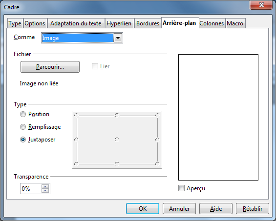 Fr documentation aoo4 user guides fr writer page apache openoffice wiki - Arriere plan open office writer ...