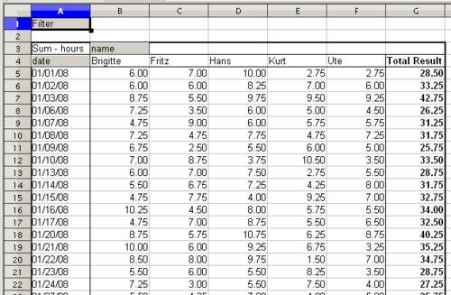 datapilot example 2 timekeeping apache openoffice wiki