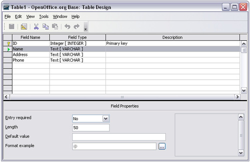 Relational databases example exporting to a mysql database.