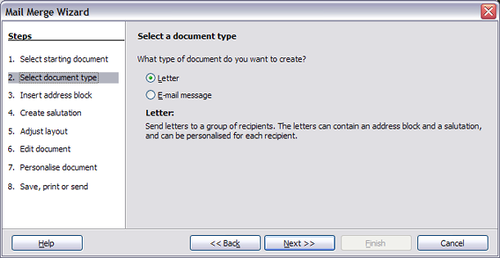 Using the Mail Merge Wizard to create a form letter - Apache