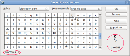 Insertion de caract res sp ciaux apache openoffice wiki - Faire un camembert sur open office ...