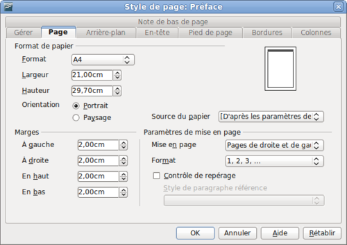 Num rotation des pages apache openoffice wiki - Comment faire une brochure sur open office ...