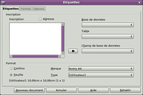 Extrêmement Impression d'étiquettes - Apache OpenOffice Wiki QS54