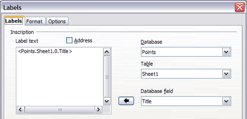 how to create mailing labels in openoffice