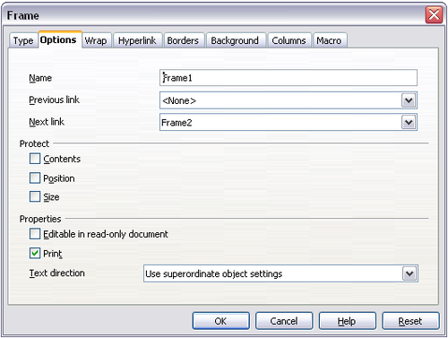 Using Frames For Page Layout Apache Openoffice Wiki