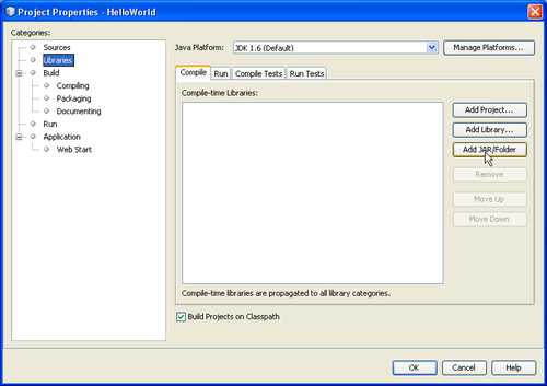 how to add jdbc jar file in netbeans