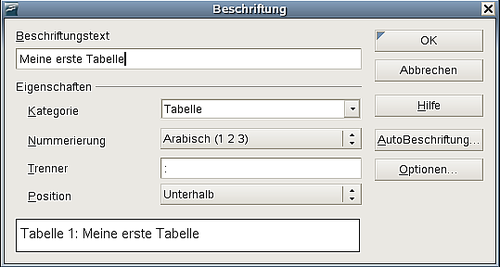 Eine Tabelle formatieren - Apache OpenOffice Wiki