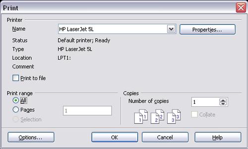 controlling printing